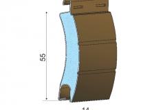 Avvolgibili in alluminio coibentato asd55