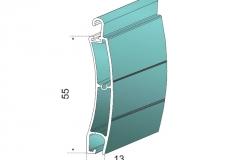 Avvolgibili in alluminio estruso ae55